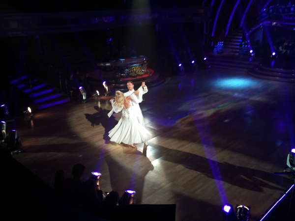 Pamela Stephenson and James Jordan in Strictly Come Dancing dress rehearsal