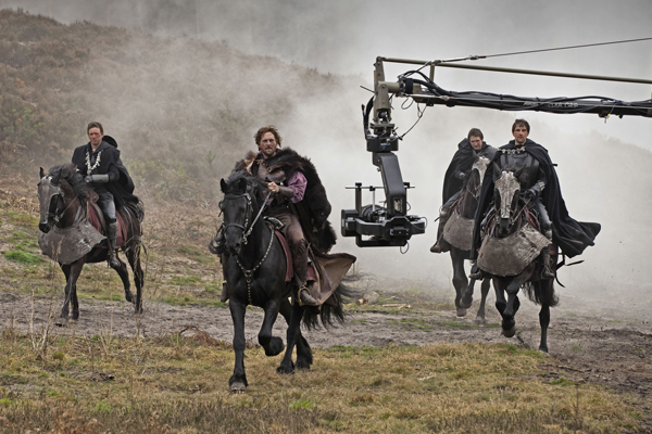 Filming Henry V on location
