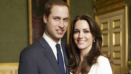 Official portrait photograph of Prince William and Kate Middleton © 2010 Mario Testino