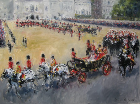Royal Wedding Procession by David Griffiths. Image courtesy of the artist