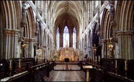A view of the Presbytery at Lichfield Cathedral