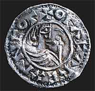 image of silver penny of Olof tribute-king