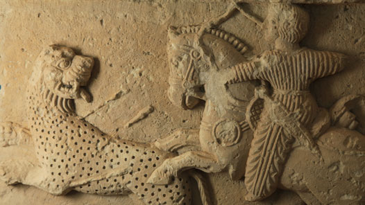 The Leopard Hunt - Carving in Palmyra museum