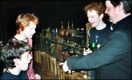 Picture: Chris Rankin with Rupert Grint and Devon Murray