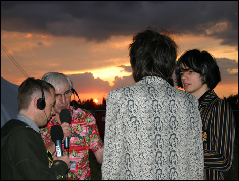 The Horrors talking to Roger Day and James Bursey