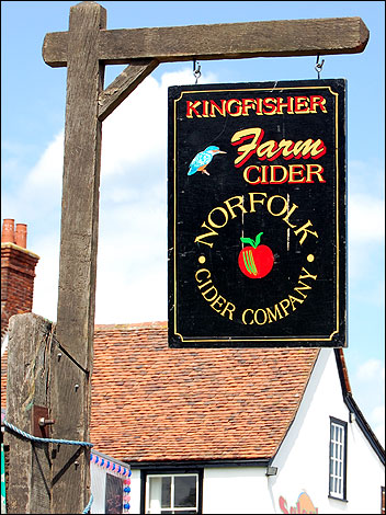 Sign for cider