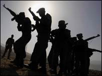 soldiers in silhoutte