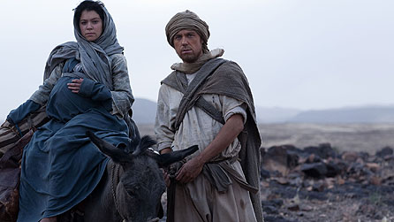 Tatiana Maslany as Mary and Andrew Buchan as Joseph