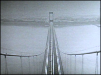 View from one of the Severn Bridge towers