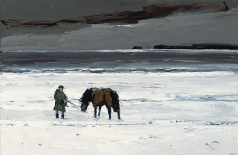 Sir Kyffin Williams' oil painting Man and Horse