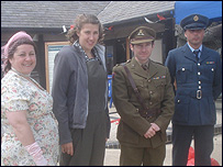Dressed In 1940s Clothes At D Day 65 Studland Pic By Patricia Beale