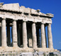 The Parthenon today. The temple stands on top of the Acropolis hill in Athens