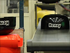 The Henry production line at Numatic, Chard
