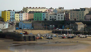 The harbour at Tenby, South