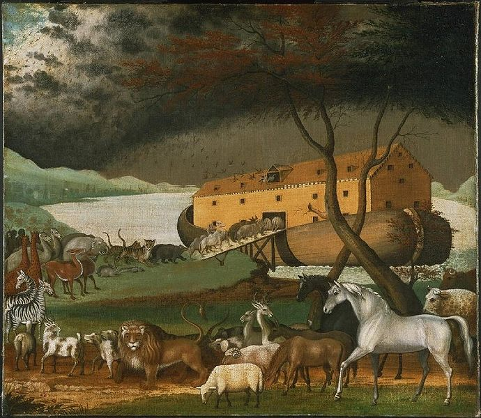 Noah's Ark, oil on canvas painting by Edward Hicks, 1846