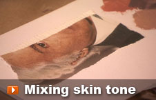 Watch mixing skin tone video