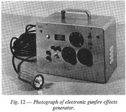 Electronic gunfire effect generator, from BBC Engineering Monograph 51: Radiophonics at the BBC