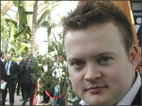 Shaun Murphy in Sheffield's Winter Garden