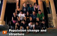 Watch 'Population change and structure' video