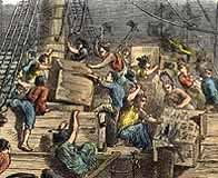 Boston Tea Party on the 16 December 1773