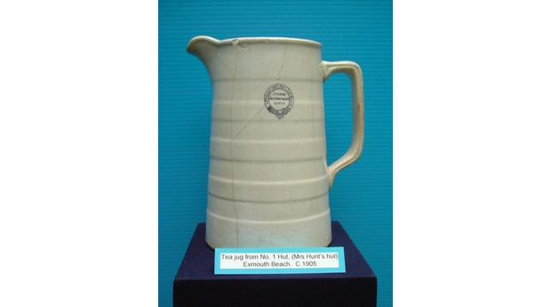 Jug belonging to Exmouth's Beach Lady