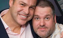 Peter Jones with Chris Moyles