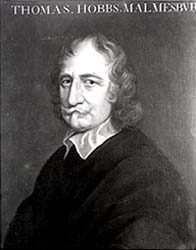Illustration showing Thomas Hobbes