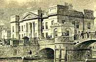 Illustration showing the Customs House, Leith