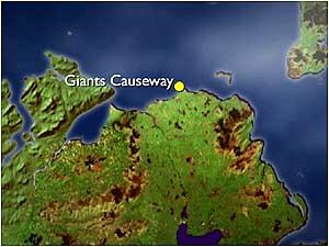 Map Of Ireland Giants Causeway.Bbc Nature S Calendar