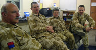 Chaplains Andrew Martlew, David Banbury, Tom Place and Anthony Feltham White in army uniform