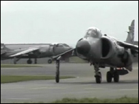 Sea Harriers land at RAF Shawbury