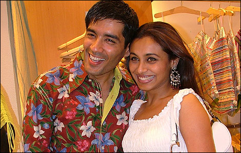 Manish Malhotra and Rani Mukerji
