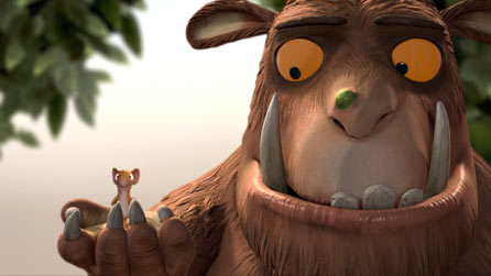 James Corden and Robbie Coltrane provide the voices for the Mouse and the Gruffalo in BBC One's animation of the popular children's book
