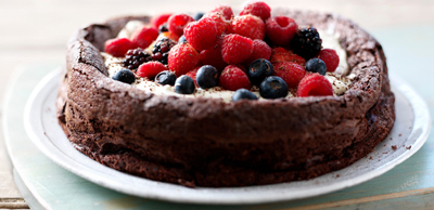Who needs gluten when you've got this much chocolate and eggs in a cake? Try Sophie Dahl's divine flourless chocolate cake