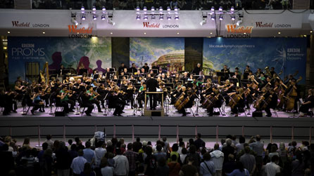 BBC Symphony Orchestra in Westfield shopping centre, London