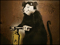 Banksy's Rat with Drill
