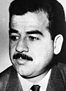 Photograph of Saddam Hussein in 1970, at the time of his rise through the Revolutionary Command Council