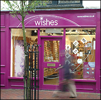 'Wishes', chain of Cancer Research UK card shops