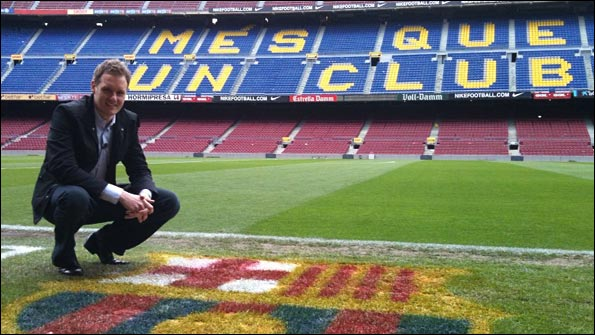 On the hallowed turf of the Nou Camp