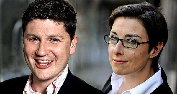 Sue Perkins and Tom Service