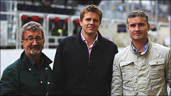 Eddie Jordan, Jake Humphrey and David Coulthard