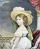 Painting showing Princess Alexandrina Victoria, aged twelve