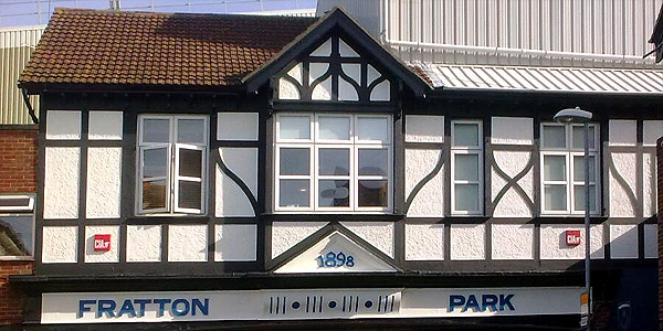 The famous entrance to Portsmouth's Fratton Park