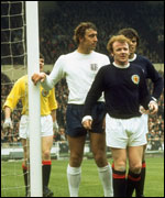 Billy Bremner playing for Scotland