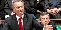 Tony Blair and Gordon Brown in the Commons