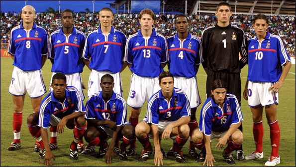 Four members of France s Fifa Under-17 World Cup-winning side from 2001 now  represent African nations  Hassan Yebda Algeria (wearing number 8) b9fc34bbc4f