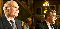 Sir Menzies Campbell and Gordon Brown