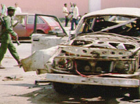 Luanda bombed out car