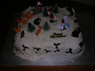 Our Christmas cake - decorated by the boys (and what fun they had!)