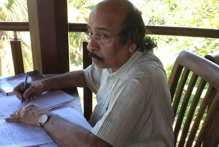 Malayalam poet, translator and critic K Satchidanandan. Photo: India Wales Writers Chain